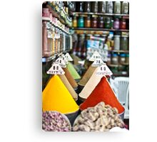Colourful Morrocan Spices Canvas Print