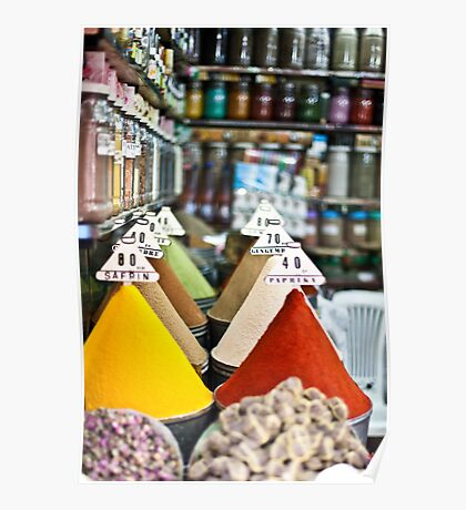 Colourful Morrocan Spices Poster