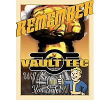 Vault Tec Will Keep You Safe Photographic Print
