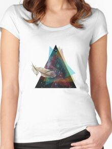 This Feather Is Out Of This World Women's Fitted Scoop T-Shirt