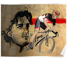 Cycling Illustration Fabian Cancellara print Poster