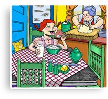 Breakfast @ Grandma's Canvas Print