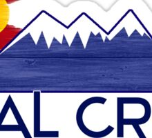 Coal Creek Colorado wood mountains Sticker