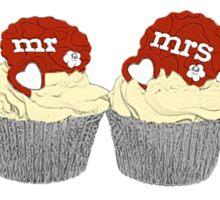 Mr & Mrs Cupcakes Sticker
