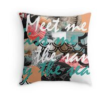 By the Sea and Sand Throw Pillow