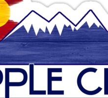 Cripple Creek Colorado wood mountains Sticker