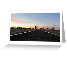 Prairie Rails Greeting Card