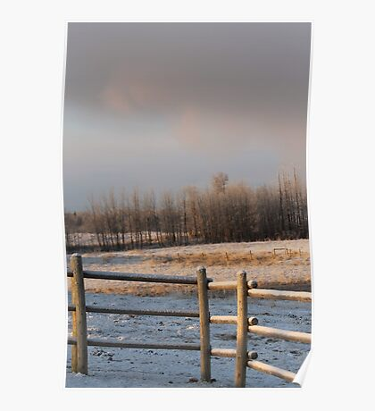 Icy Fence Poster