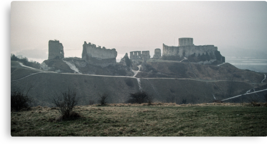 Castle Gaillard by Richard I Les Andelays 198402160027  by Fred Mitchell