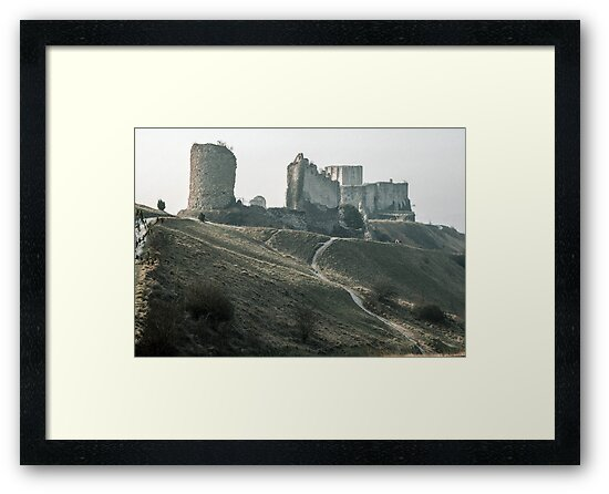 Castle Gaillard by Richard I Les Andelays 19840216 0029  by Fred Mitchell