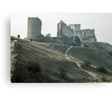 Castle Gaillard by Richard I Les Andelays 19840216 0029  Canvas Print