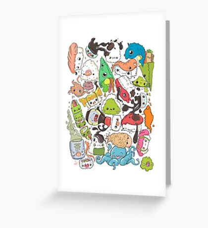 Sushi Bar: The point of Nori-turn Greeting Card