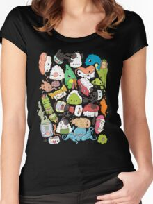 Sushi Bar: The point of Nori-turn Women's Fitted Scoop T-Shirt