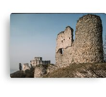 End and central section Castle Gaillard Les Andelays 19840216 0032 Canvas Print
