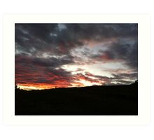 Sunset Late Art Print