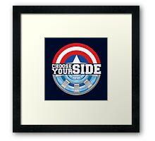 Civil War - Choose Your Side Framed Print
