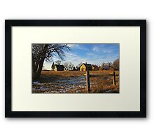 Down on Junior's Farm Framed Print