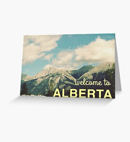 alberta Greeting Card