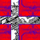 circuit board Flag (Denmark) by sebmcnulty