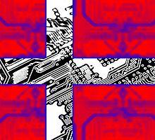 circuit board Flag (Denmark) by sebmcnulty
