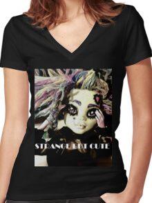 Strange but Cute Women's Fitted V-Neck T-Shirt