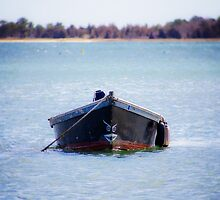 Black Row Boat by Elizabeth Thomas