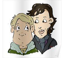 sherlock Holmes and John Watson Poster