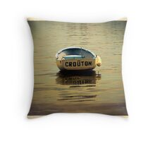 Crouton Skiff Throw Pillow
