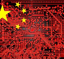 circuit board Flag (China) by sebmcnulty