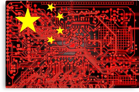 circuit board Flag (China) by sebmcnulty