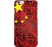 circuit board Flag (China) iPhone Case/Skin