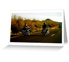 Bikers, AZ Greeting Card