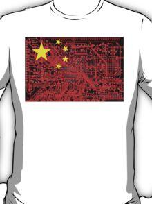 circuit board Flag (China) T-Shirt
