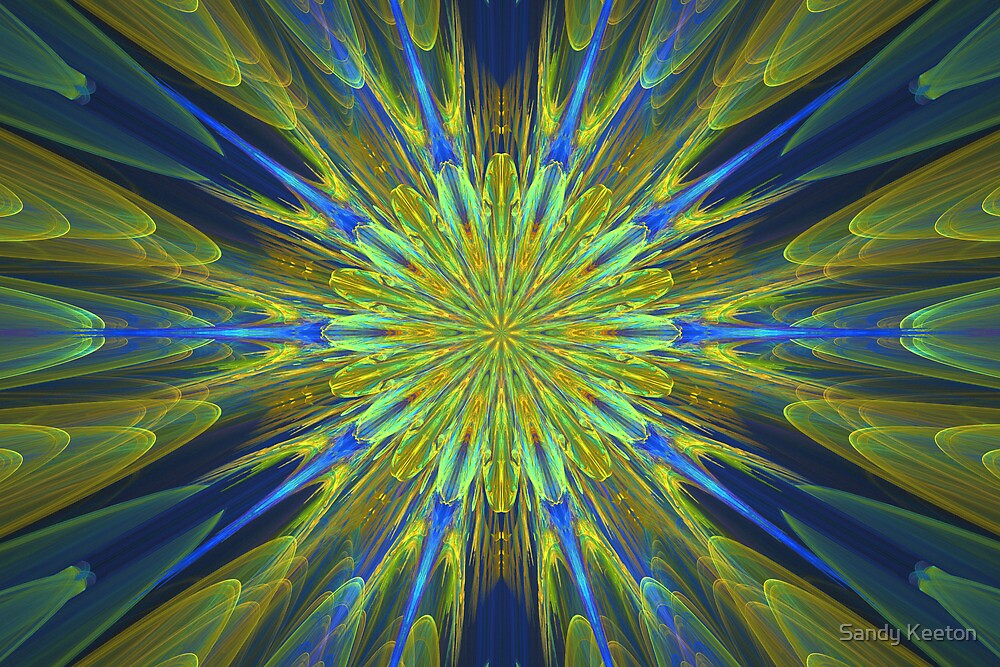 Blue and Gold by Sandy Keeton