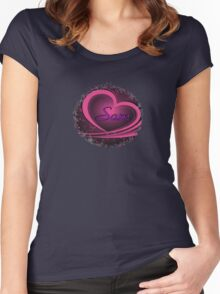 Sam - Ornate Heart Design (Supernatural) Women's Fitted Scoop T-Shirt