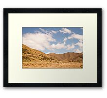 Lindis Valley, New Zealand Framed Print
