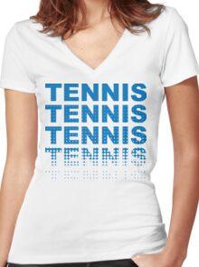 Tennis Tennis Tennis Tennis Women's Fitted V-Neck T-Shirt