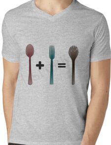 Spork Mens V-Neck T-Shirt