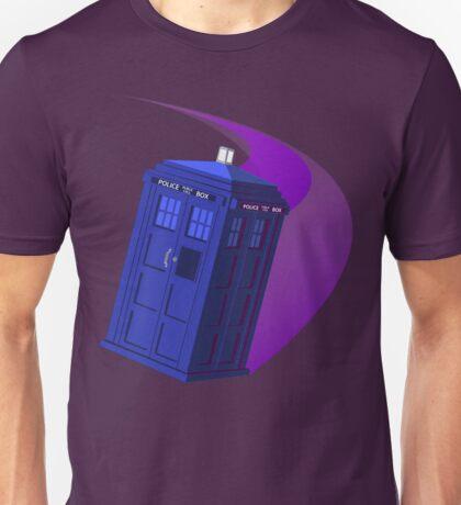 The TARDIS, Anywhere, Anytime TRAVEL POSTER Unisex T-Shirt