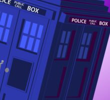 The TARDIS, Anywhere, Anytime TRAVEL POSTER Sticker