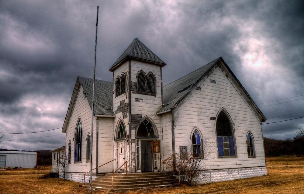 First Methodist Church, Jermyn, Texas by Terence Russell