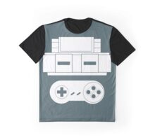 Let's Play SNES (White Graphic T-Shirt