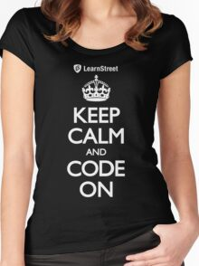 Keep Calm and Code On Women's Fitted Scoop T-Shirt