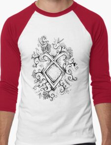 Angelic Rune Mandala Men's Baseball ¾ T-Shirt