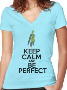 Cell - Keep Calm Women's Fitted V-Neck T-Shirt
