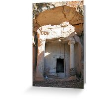 Lycian Tomb - 4th Century BC Greeting Card