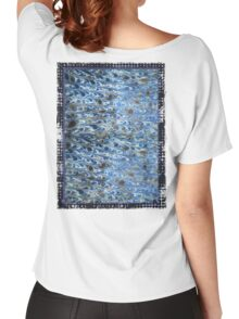 marbled paper - ink blue sea Women's Relaxed Fit T-Shirt