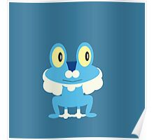 Froakie - blue background Poster