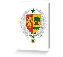 Senegal Coat of Arms Greeting Card