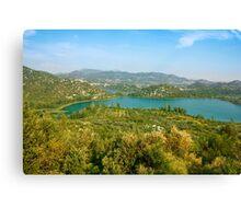 The Bacina Lakes panoramic view Canvas Print